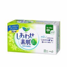KAO 花王 F系列 棉柔卫生巾 日用 带护翼(白底绿花)(22.5cm*22片)