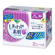 日本 花王LAURIER超薄透气棉柔F系列日用卫生巾(25cm*17片)