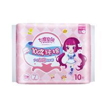 七度空间少女系列纯棉超薄245mm日用卫生巾(10片)