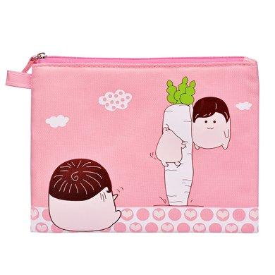 上品匯若姬小文件袋拉鏈加厚卡通創意收納袋兒童學生資料袋細物袋