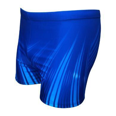 耀婷新款泳褲男時尚大碼印花平角修身帶系帶高彈性寬松運動游泳褲泳褲M901