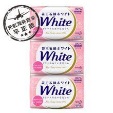 花王White沐浴香皂 玫瑰香(130gX3块)