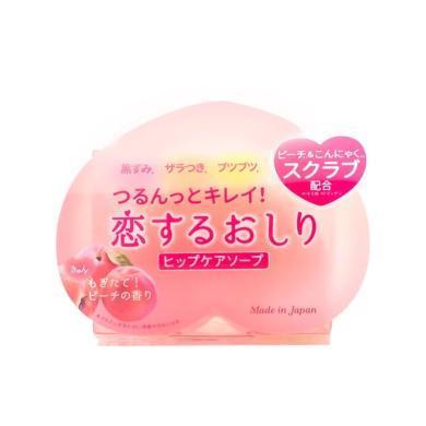 1个*日本Pelican沛丽康美白香皂蜜桃香氛去黑去角质美臀皂80g【香港直邮】