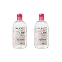 2瓶装 法国 Bioderma贝德玛 舒妍温和保湿卸妆水500ml/瓶 粉水