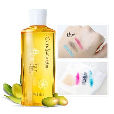 【溫和卸妝油】綠葉 深層凈透卸妝油90ml 可卸眼唇 深層清潔 收斂毛孔 控油補水