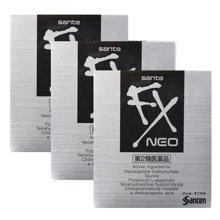 3盒装 日本参天FX NEO眼药水12ml/盒 清凉型缓解眼疲劳充血