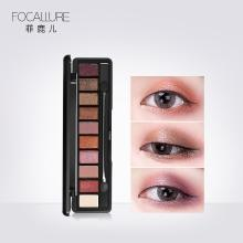 Focallure眼妆大地色珠光哑光防水不飞粉不晕染烟熏10色眼影FA08