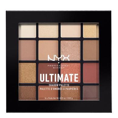 【支持購物卡】美國NYX 16色眼影盤#03 warm neutrals 珠光啞光暖色平價眼妝