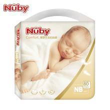 努比(Nuby) 婴儿纸尿裤臻享丝柔铂金装 男女宝宝透气干爽超薄纸尿裤尿不湿婴儿纸尿片 美国品牌 NB码
