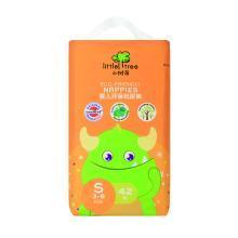 英国小树苗 婴儿环保纸尿裤 S码42片 小号时尚尿不湿(3-6kg) 小怪兽系列之牛萌王