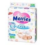 日本原装进口花王Merries纸尿裤-腰贴式S82片(4-8kg)