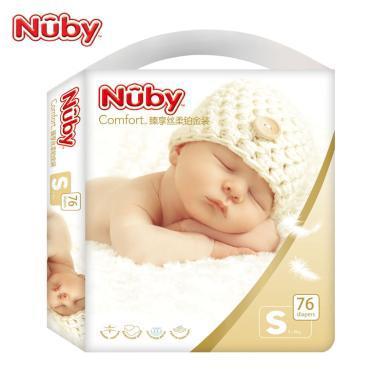努比(Nuby) 婴儿纸尿裤臻享丝柔铂金装 男女宝宝透气干爽超薄纸尿裤尿不湿婴儿纸尿片 美国品牌 S码