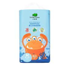 英国小树苗 婴儿环保纸尿裤 M码50片 中号时尚尿不湿(6-10kg) 小怪兽系列之猎奇蟹