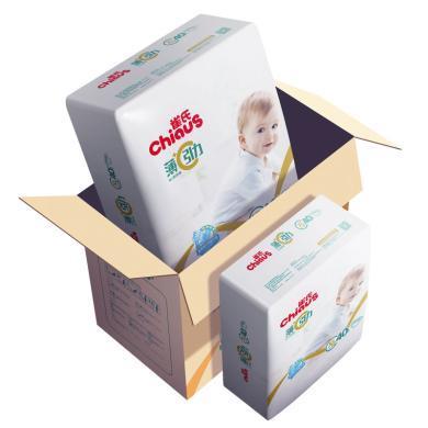 雀氏薄+C引力嬰兒紙尿褲XL80寶寶大號尿不濕舒適干爽透氣薄款