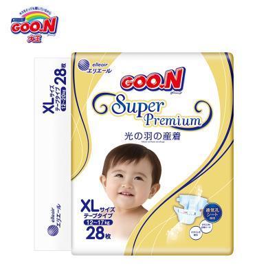 GOO.N(大王)環貼式紙尿褲光羽系列XL號(28片)
