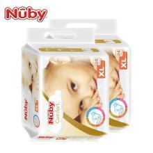 努比(Nuby) 婴儿纸尿裤 男女宝宝尿不湿 臻享丝柔超薄透气纸尿裤全芯体纸尿片美国品牌 加大码XL(13kg以上)24片 2包