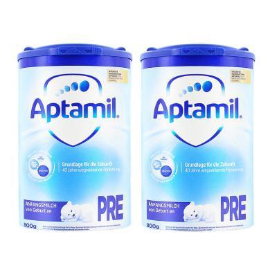 【2罐】德國Aptamil愛他美奶粉Pre段(0-6個月寶寶) 800g/罐