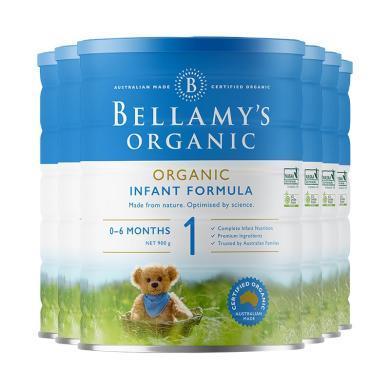 6罐*澳洲婴儿奶粉贝拉米1段 适合0-6月宝宝 900g【澳洲空运直邮】