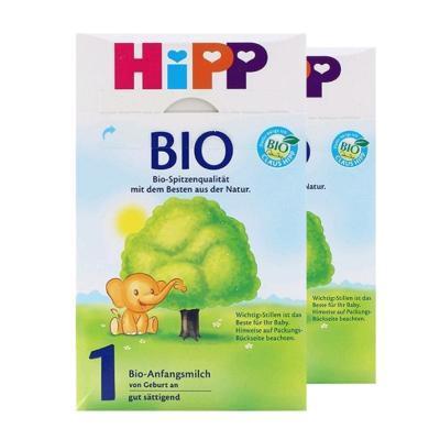 【2盒】德国HiPP喜宝有机婴幼儿奶粉 1段(0-6个月)600g