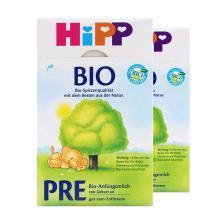 【2盒】德国HiPP喜宝有机婴幼儿奶粉 PRE段(0-3个月)600g