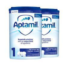 【2罐装】英国Aptamil爱他美婴幼儿奶粉 1段(0-6个月)800g