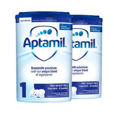 【2罐裝】英國Aptamil愛他美嬰幼兒奶粉 1段(0-6個月)800g