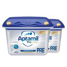 【2罐装】德国Aptamil爱他美白金版婴幼儿奶粉 PRE段(0-3个月)800g