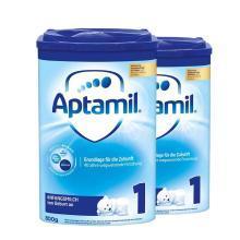 【2罐】德国Aptamil爱他美婴幼儿奶粉 1段(0-6个月)800g/罐 新版