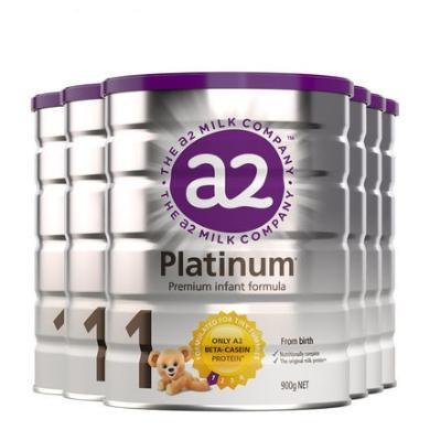 6罐*澳洲A2婴儿奶粉A2白金奶粉1段 适合0-6月宝宝 900g【澳洲空运直邮】