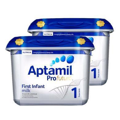 【2罐装】英国Aptamil爱他美白金版婴幼儿奶粉 1段(0-6个月)800g