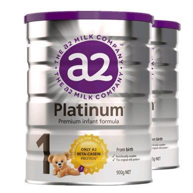 【2罐装】【澳洲】a2 Platinum 白金版1段婴幼儿奶粉(0-6个月)900g