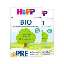 【两盒装】Hipp 德国 喜宝 有机奶粉 Pre段 0-3个月 600g