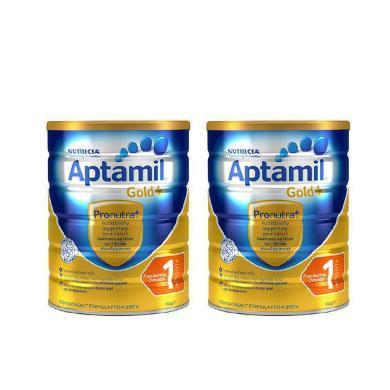 【2罐】澳洲Aptamil愛他美金裝嬰幼兒奶粉1段(0-6個月寶寶) 900g/罐