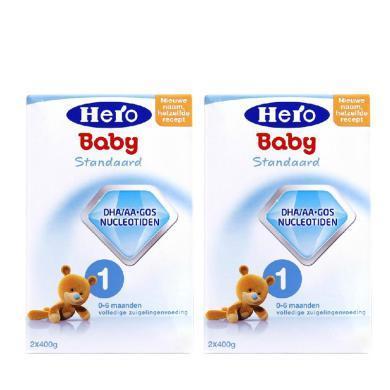 【2盒】荷蘭Hero Baby天賦力奶粉1段(0-6個月寶寶)800g/盒 (效期:2020.07起)