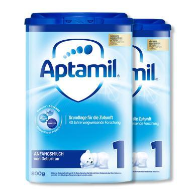 【支持購物卡】2罐*德國 愛他美 Aptamil 奶粉1段 800g/罐