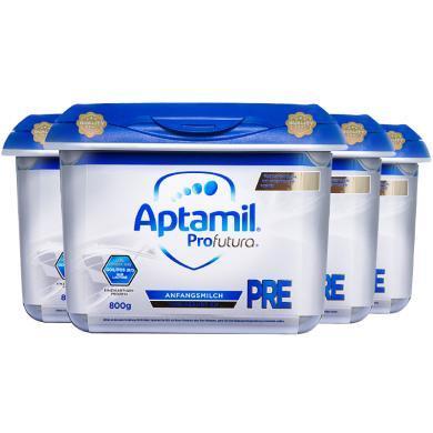 4罐*德國愛他美Aptamil 白金版 Pre段奶粉(0-3個月)800g/罐 海外直郵