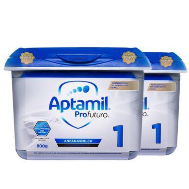 【支持購物卡】2罐*德國 愛他美白金版 Aptamil 奶粉1段 3-6個月 800g/罐