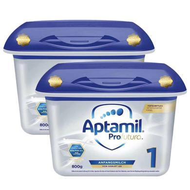 【支持购物卡】2罐*德国Aptamil 爱他美 婴幼儿奶粉 白金版 1段800g(0-6月)新版 直邮