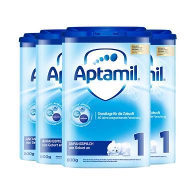 4罐*德國愛他美 Aptamil 1段奶粉(0-6個月)800g/罐 海外直郵