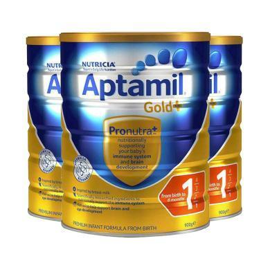 【支持購物卡】3罐*澳大利亞 愛他美金裝 Aptamil 奶粉 1段 0-6個月 900g/罐