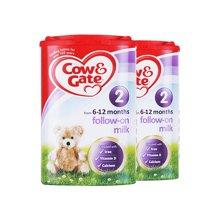 【2罐装】英国牛栏Cow&Gate奶粉2段900g*2