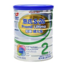 惠氏S-26鉑臻較大嬰兒配方奶粉2段(800g)