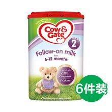 【牛栏】英国空运直邮牛栏2段Cow&Gate二段婴儿奶粉6-12个月新包装800g*6罐装