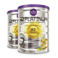 【2罐装】新西兰A2 白金装 2段奶粉(6-12个月)900g