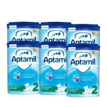 【爱他美】英国空运直邮爱他美2段aptamil二段婴儿奶粉6-12月 800g*6罐