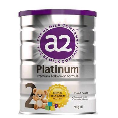 1罐*澳洲A2奶粉二段a2嬰兒奶粉A2白金奶粉2段 適合6-12月 寶寶 900g【海外直郵】