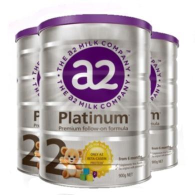 3罐*澳洲A2嬰兒奶粉A2白金奶粉2段 適合6-12月 寶寶 900g【澳洲空運直郵】