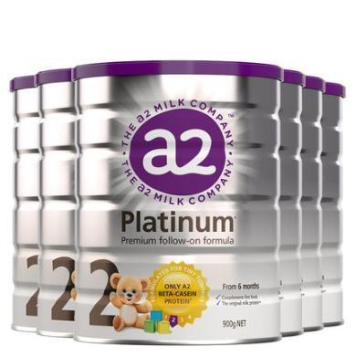 6罐*澳洲A2嬰兒奶粉A2白金奶粉2段 適合6-12月 寶寶 900g【澳洲空運直郵】