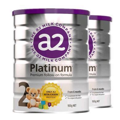 2罐*澳洲A2嬰兒奶粉A2白金奶粉2段 適合6-12月 寶寶 900g【香港直郵】