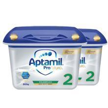 【2罐装】德国Aptamil爱他美白金版婴幼儿奶粉 2段(6-12个月)800g